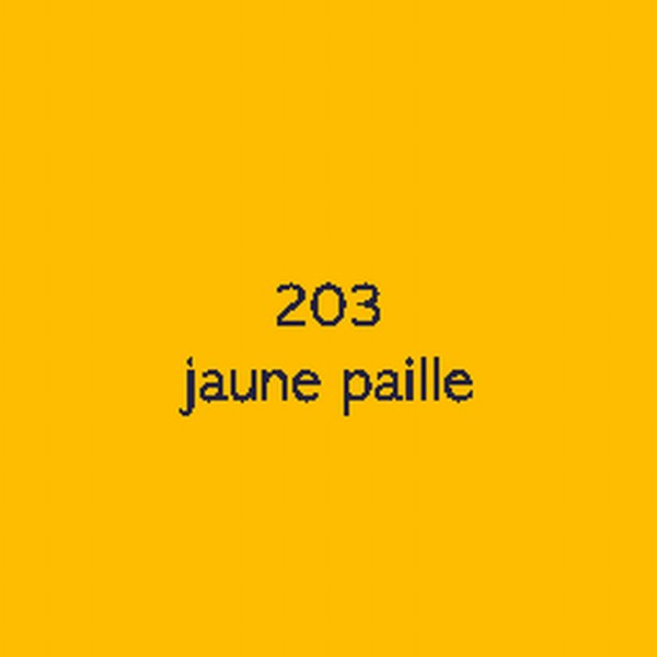 Sticker autocollant film polymère jaune paille brillant