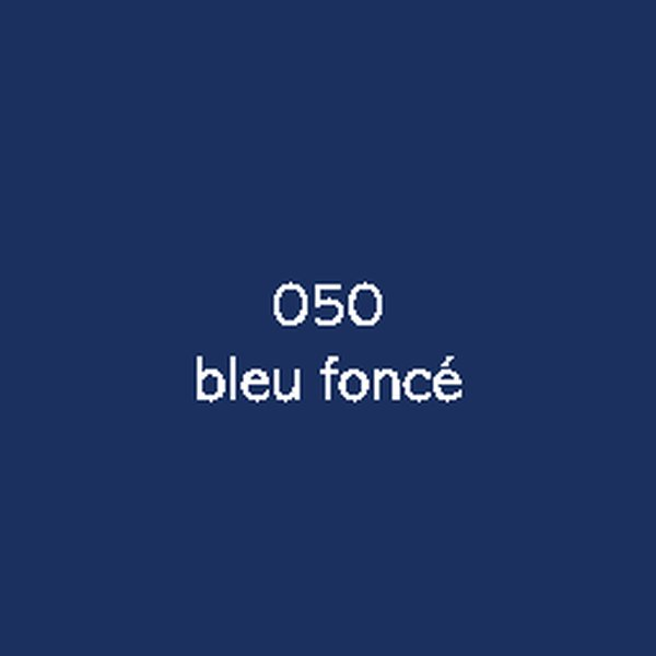 Sticker autocollant film polymère bleu fonce brillant