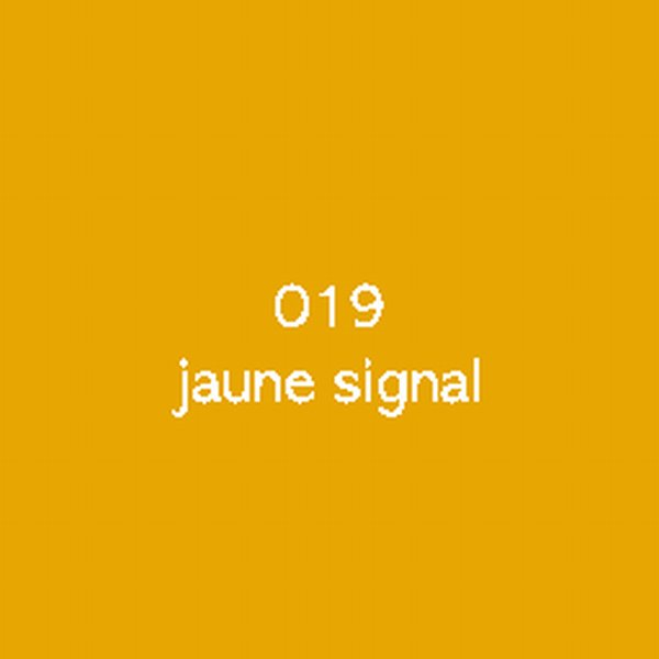 Sticker autocollant film monomère jaune signal