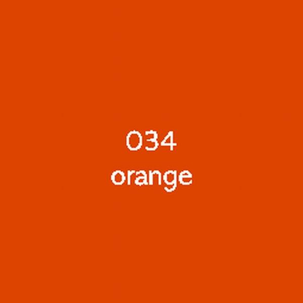 Sticker autocollant film monomère orange