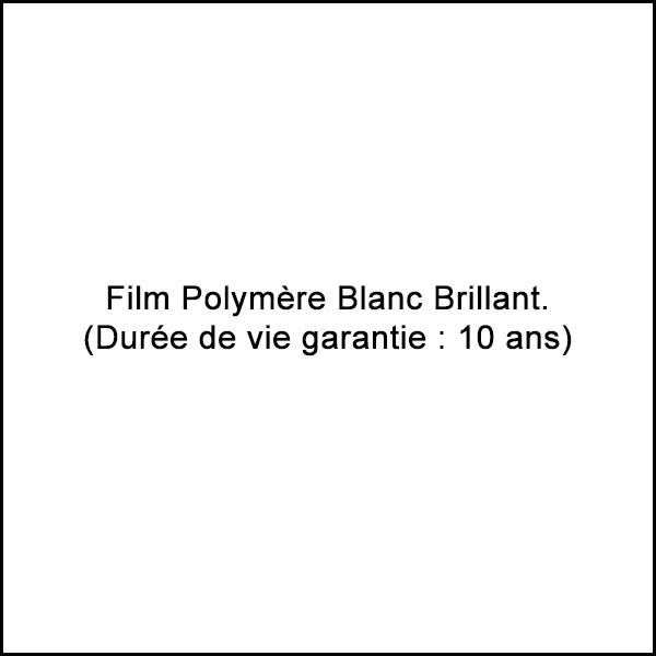 Sticker film polymère blanc brillant