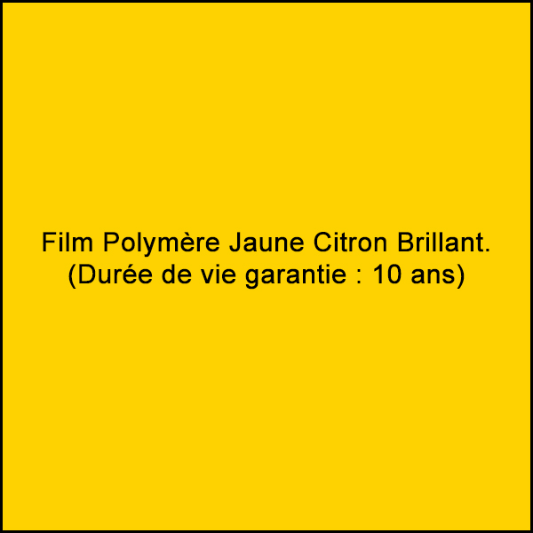 Sticker vinyle film polymère jaune citron brillant